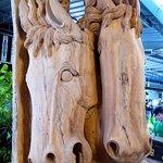 Wood carving at Baan Tawai Village