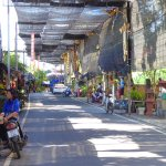 Baan Tawai main road is well covered to protect you from the heat