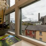 View from room towards St Canice's Cathedral Kilkenny city