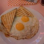 Brussels, Le Balmoral, fried eggs
