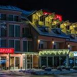 Ramada Hotel & Suites Kranjska Gora at night