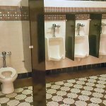 Ultra clean toilet facilities in Harry Caray's Tavern