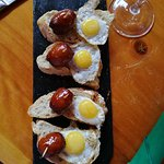 Chistorra and Quail eggs