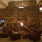 Lobby fire place!