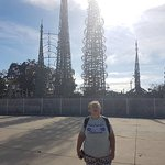 Cordoned off Watts Towers