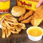 Never been to Bojangles? Start here... 4 pc. Supreme Dinner, Seasoned Fries, & Free Iced Tea!