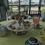 Tea sandwiches and desserts at the Atrium