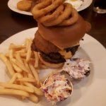 the quadzilla burger with extra coleslaw