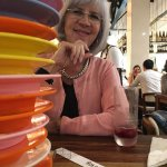 Tower of sushi plates