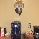 Real coffee in the breakfast/hospitality room,