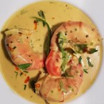 Jumbo Prawn Moilee, a beautiful new addition to our recently updated menu.