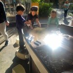 they loved this sand and water table!