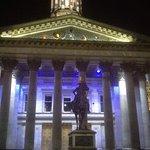Duke of Wellington Statue at night