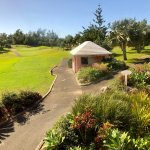 The grounds, both pool and ocean side, overlooking the golf course and the play room. All outsta