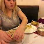 Chicken Korma and garlic naan