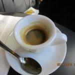 Espresso (he drank some)