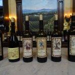 Wine tasting bottles -