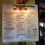 Reasonably priced menu