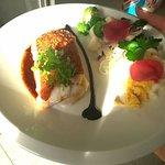 Filet de merlu viennoise au chorizo
