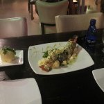 Esse prato é bom, pena que é bem pequena a lagosta, quase um lagostim!