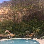 Beautiful pool looking at both Pitons