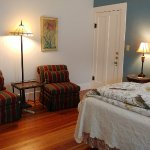 The Lilli Marleen Room has the original Long Leaf Pine wood floors.