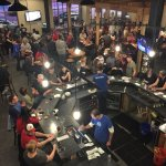A lively and fun taproom.