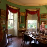 Dining room and out nice tour lady