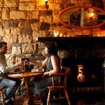 Enjoy a hearty pub meal by the fire