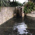 Water wheel in the sunken gardens