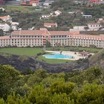 This photo of the hotel was taken from the top of Monte Brasil