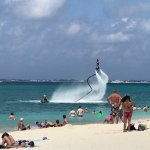 Water jet pack at the Cayman Reef Resort beach