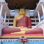 Large Buddha statue is hidden from the entrance