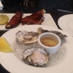 Oysters were mushy - not good and the ribs were just OK
