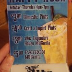 Happy hour specials n sweet buns