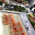 Smoked Salmon and Lamb Chops