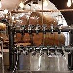 В нашем баре установлена башня на 13 кранов, пиво подается в бар по специальной магистрали