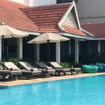 Pool is a great area for relaxing with a book or cooling off in the pool