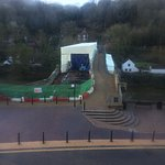 View of the Iron Bridge from The Tontine Hotel, Gonna be great when the restoration is complete