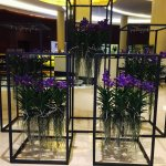Flowers greeting you in the lobby