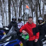 Break time on the trail! Thank you Snowmobile Vermont - Killington!