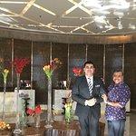 With Front Desk Manager Nripender Kamboj