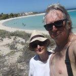coral bay, white sand, blue sea, great snorkelling, warm sun!