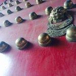 朱漆的大門,鎏金的銅釘兒