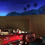 a drive-in theatre in the hollywood hills