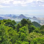 Gorgeous View of Sugar Loaf and Statue of Christ from National Forest from Vista of Chinesa