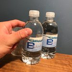 SUPER TINY Water bottles. But at least they were included (in the $35/night fee)