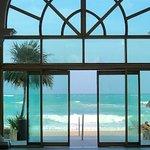 lobby of oceanfront building