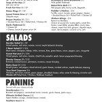 2018 Starters, Salads & Sandwiches