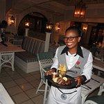 Our excellent waitress!